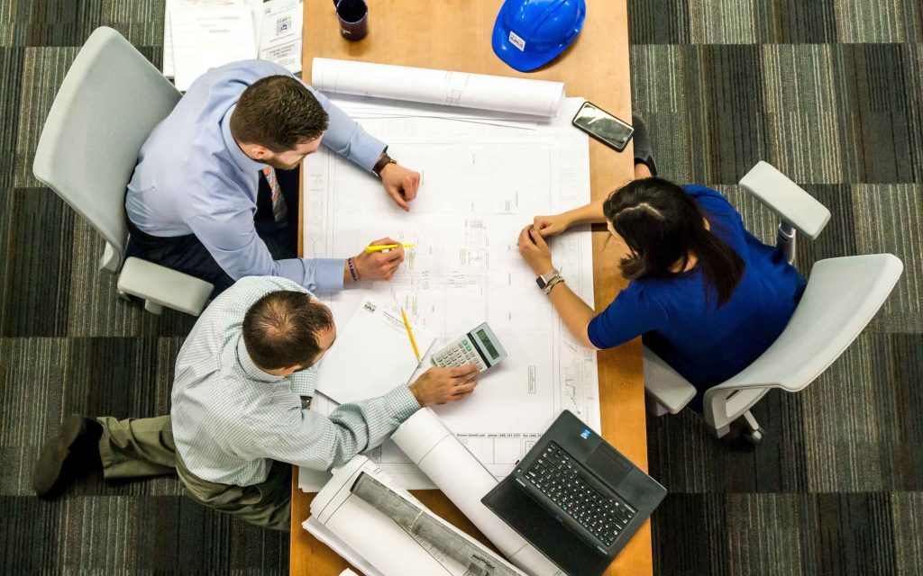 Team of contractors