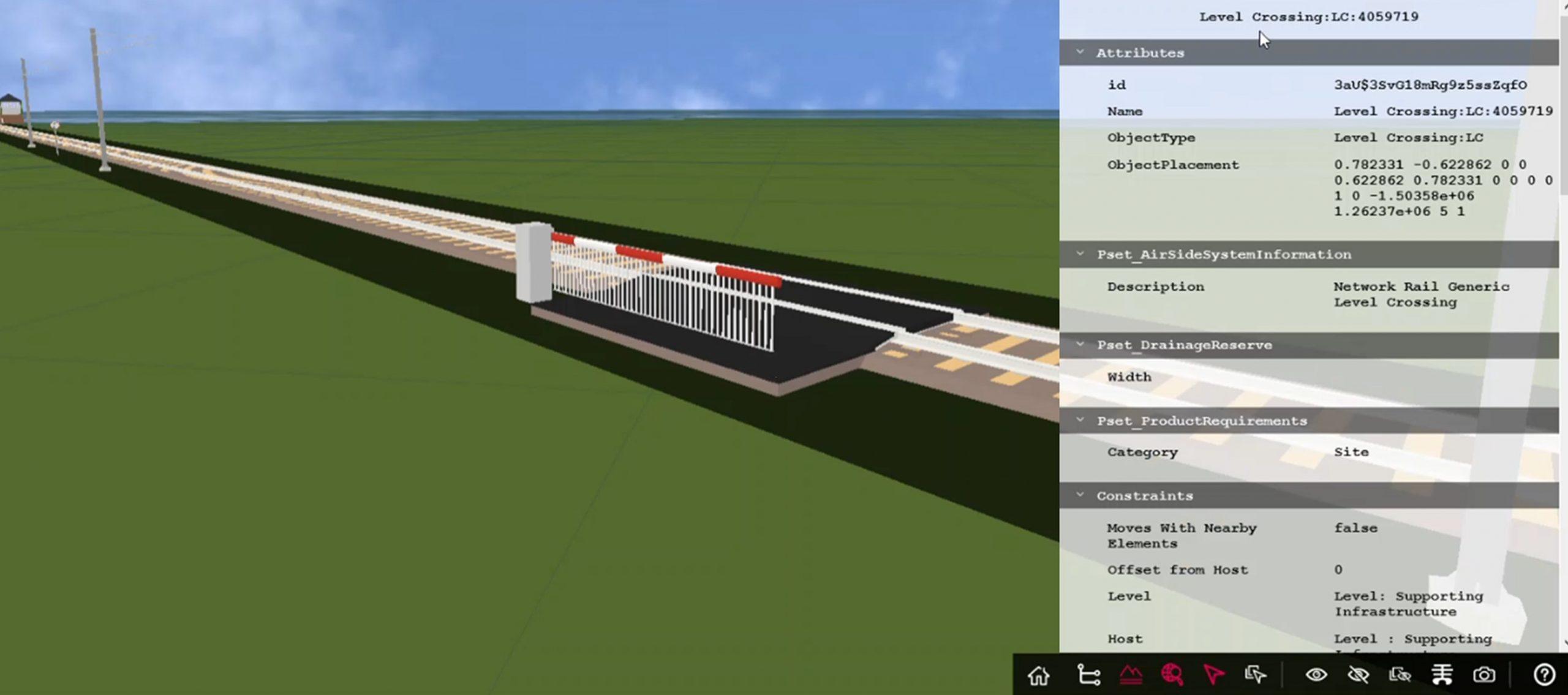 BIM train level crossing